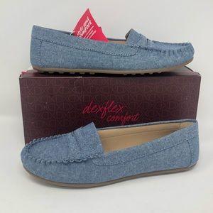 NEW Dexflex Comfort Dayzy loafers denim